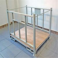 Buy cheap Apparel Factory Metal Wire Mesh Cage Foldable Cloth Container for Storage from wholesalers