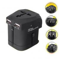 Wholesale World Universal USB Travel Charger Black With Double USB For iPhone 4 / iPhone 4S / iPad from china suppliers