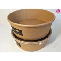 Wholesale Unbleached Rice Noodle Kraft Paper Salad Bowls 20oz 26oz 32oz Food Container from china suppliers