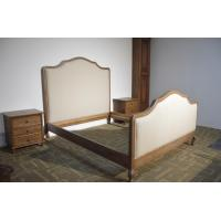 antique french fabric wing bed, european style upholstered bed home furniture, french king bed