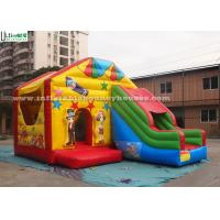 Wholesale Zoo Hill Combo Inflatable Bouncy Castles , Small Bounce House With Slide from china suppliers