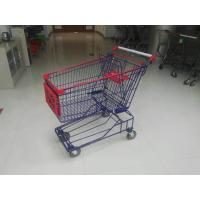 Wholesale Commercial 150L Wire Shopping Trolley Wire Mesh Shopping Cart With 5 Inch TPE Caster from china suppliers