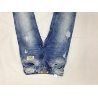 Wholesale Cotton Denim Fabric Mens Slim Straight Leg Jeans Fireproof Enzyme Wash from china suppliers