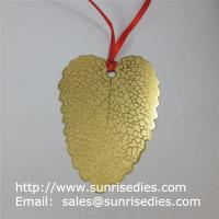 Gold tone etched leaf page marker bookmarks