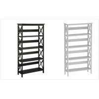 Wholesale Stand Alone Wooden Storage Rack Shelf 5 Tier Bookshelf Customized Size from china suppliers