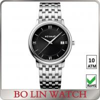 Wholesale Leather Band Stainless Steel Bracelet Watch , Men Quartz Wrist Watch from china suppliers