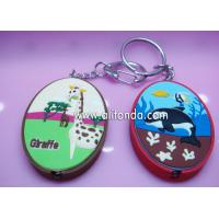 China Creative promotional keychains with night light for hotel school hospital on sale