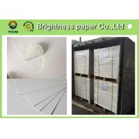 Buy cheap Large White Card Sheets 350gsm , Recycled Coated Cardboard Sheets Anti - Curl from wholesalers