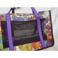 Wholesale Laurel Burch Cat Carrier Bag, Soft ADORABLE CAT PRINT Fabric tote, Nylon & Mesh animal bag from china suppliers