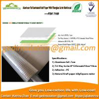 Wholesale Aluminum foil laminated 60g kraft paper with fiberglass scrim reinforced from china suppliers