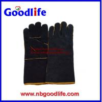 Wholesale Welding glove made of cow split leather industrial gloves from china suppliers