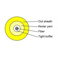 Wholesale Yellow Simplex Tight Buffered Fiber Optic Cable for Patch Cord and Pigtails from china suppliers