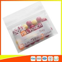 China Customized Clear Ziplock Pill Bags Resealable For Drug Medicine Packing for sale