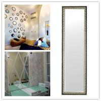 Color Bath Silver Mirror Glass For Home Decor , Double Paints For Protection