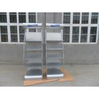 Wholesale Silver 5 Tier Metal Display Shelves Grocery Store Displays Single Side from china suppliers