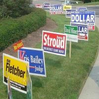 "Quality Full Color Printing Yard Signs , 96"" X 48"" Lawn Signs for sale"