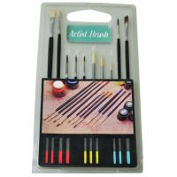 Wholesale Fine Artist Painting Brushes Set 15pcs Or 10pcs Wooden / Plastic Handle from china suppliers
