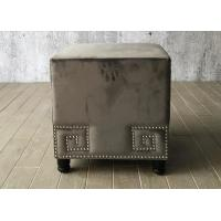 Wholesale Velvet Fabric Bedroom Ottoman Bench Cube For End Bed , Grey Color from china suppliers