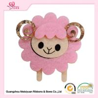 Wholesale Lovely Sheep Felt hair Clips handmade hair accessories , christmas hair accessories for baby girl 4cm from china suppliers