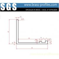 Wholesale Solid Brass Single Post L Sections Aging Copper L Corner Framing from china suppliers