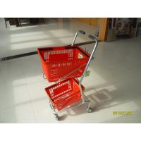 Wholesale Small Shop Use Shopping Basket Trolley With 4 Swivel 3 Inch PVC Casters from china suppliers