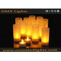 Wholesale Plastic Led Flameless Candles , Artificial flickering led candles Eco - Friendly from china suppliers