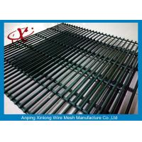 Wholesale Powders Sprayed Coating Dark Green 358 Security Mesh Fence 12.7*76.2mm from china suppliers