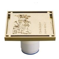 Wholesale Golden Brass Floor drain with Pattern, PZ5003-50A from china suppliers