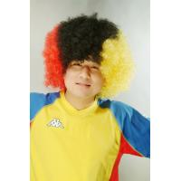 Wholesale Eco friendly Afro Style Belgium Football / Soccer Sports Fan Wigs from china suppliers