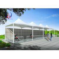 Wholesale High Peak Double Side Car Parking Tensile Structure Umbrella Car Parking Shade from china suppliers