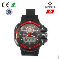 Wholesale Silver Or Black Silicone Wrist Watch For Male / Interchangeable Silicone Watches from china suppliers