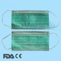 Wholesale 3-ply Non-woven Disposable Surgical Face Mask with Ear-loop from china suppliers