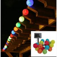 3m Color Solar Mini Lanterns String Lights - Cool White Solar Powered 10LED colorful hanging decoration