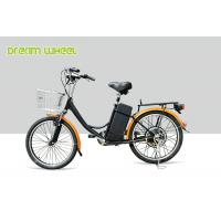 Wholesale CE 24 Inch Pedal Assist Electric Bike , lady style E Bike 36V Brushless Motor V Brake from china suppliers