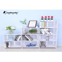 Wholesale Multi-layer storage rack for large capacity stacks White Multi Size simple storage rack from china suppliers