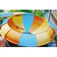 Quality Outdoor Water Play Equipment , Fiberglass Space Bowl Slide for Theme Park for sale