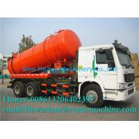 Wholesale HOWO Vacuum Sewage Truck 6 X 4 12M3  Euro 2 ZF8098 High Efficient Long Service Life suction truck swz from china suppliers