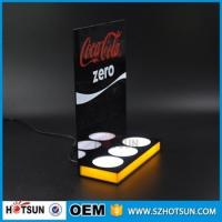 Wholesale Customized 3 bottles acrylic LED beer display from china suppliers