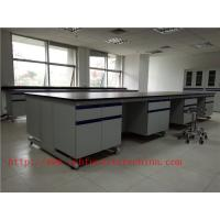 Wholesale 3000 mm  Wood Frame Blue /  White School Lab furniture Fume Hood For Chemistry Laboratory from china suppliers
