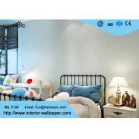 Wholesale Removable PVC Blue Color Modern Embossed Wallpaper For Bedding Room from china suppliers