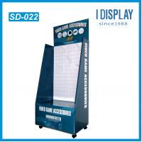 Wholesale Popular corrugated cardboard floor hook display with wheels from china suppliers