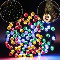 Wholesale 100 Leds 42 Ft 8 Modes Solar Fairy Lights For Wedding , Durable Outdoor Fairy Lights Waterproof from china suppliers