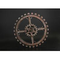 "Wholesale Wheel Gear Shape 15""x15"" Decorative Clocks For Home In Rustic Rust Finishing from china suppliers"