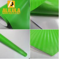 Wholesale Green 3D Carbon Fiber Vinyl Car DIY Wrap Sheet Roll Film Sticker Decal from china suppliers