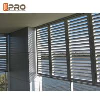 China Eco - Friendly Aluminium Louver Window , Secure Glass Shutter Openable Plantation Louver Ventilation Grille Window on sale