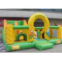 Wholesale Small Cartoon Theme Inflatable Fun Island , Inflatable Playground With Giant Blow Up Slide from china suppliers