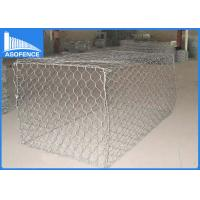 Quality Pvc Coated Gabion Mesh Cages , Stainless Steel Gabion Wall Baskets for sale