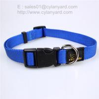 Wholesale Solid Basic Nylon Dog Collars, Matching pet leash available separately from china suppliers