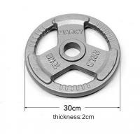 Wholesale dia50mm hammertone gray weight plates plate with Three grip handles from china suppliers