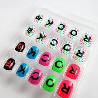 Wholesale English letters Nail Art Fake Nails Childern Candy Fashion Fake Nails from china suppliers